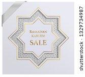 ramadan sale poster. paper... | Shutterstock .eps vector #1329734987