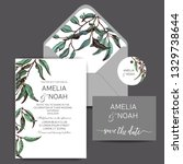 vector invitation for wedding... | Shutterstock .eps vector #1329738644