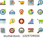 color flat icon set   site flat ...   Shutterstock .eps vector #1329739034