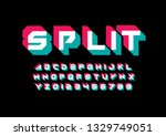vector of stylized modern font... | Shutterstock .eps vector #1329749051