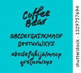 font. brush painted letters.... | Shutterstock .eps vector #1329757694