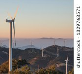 windmill mountain power plant   Shutterstock . vector #1329763571