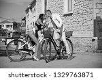 bike trip of family on... | Shutterstock . vector #1329763871