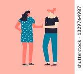 women team work concept. two... | Shutterstock .eps vector #1329764987