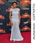 """Small photo of LOS ANGELES, CA. March 04, 2019: Lashana Lynch at the world premiere of """"Captain Marvel"""" at the El Capitan Theatre. Picture: Paul Smith/Featureflash"""