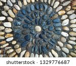 stones circle shape decorate on ... | Shutterstock . vector #1329776687