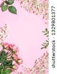 fresh flowers composition as... | Shutterstock . vector #1329801377