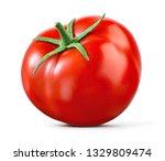 tomato isolated. tomato on... | Shutterstock . vector #1329809474