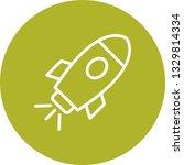 illustration space ship icon | Shutterstock . vector #1329814334
