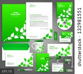 green corporate identity... | Shutterstock .eps vector #132981551