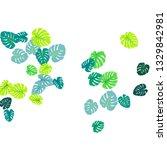 green tropical jungle leaves... | Shutterstock .eps vector #1329842981