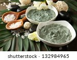 composition with cosmetic clay...   Shutterstock . vector #132984965