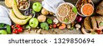 healthy food. selection of good ...   Shutterstock . vector #1329850694