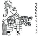 cartoon medieval knight... | Shutterstock .eps vector #1329854861