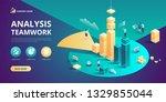 isometric business analysis...   Shutterstock .eps vector #1329855044