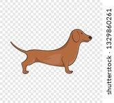Brown Dachshund Dog Icon In...