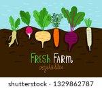 vegetables garden growing.... | Shutterstock .eps vector #1329862787