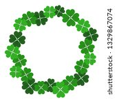 saint patrick's day frame with... | Shutterstock . vector #1329867074