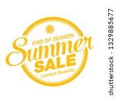 summer sale banner layout...   Shutterstock .eps vector #1329885677