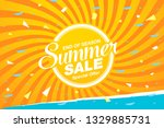 summer sale banner layout... | Shutterstock .eps vector #1329885731