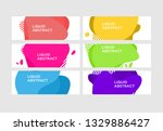 modern abstract vector banner... | Shutterstock .eps vector #1329886427