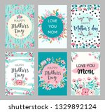 set of mothers day greeting...   Shutterstock .eps vector #1329892124