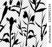 retro seamless pattern with... | Shutterstock .eps vector #1329892154