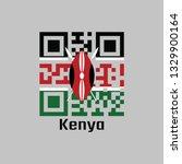 qr code set the color of kenya... | Shutterstock .eps vector #1329900164