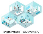 isometric flat interior of... | Shutterstock . vector #1329904877