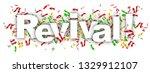 revival  label in white... | Shutterstock . vector #1329912107