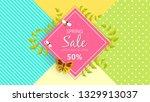 spring sale background banner...   Shutterstock .eps vector #1329913037
