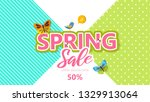 spring sale background banner...   Shutterstock .eps vector #1329913064