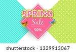 spring sale background banner...   Shutterstock .eps vector #1329913067