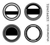 a vintage badge design set. | Shutterstock .eps vector #1329919451