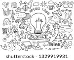 hand drawn business background... | Shutterstock .eps vector #1329919931