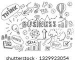 hand drawn business background...   Shutterstock .eps vector #1329923054