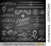 set of vintage decorations... | Shutterstock .eps vector #1329931364