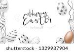 vector illustration of easter... | Shutterstock .eps vector #1329937904