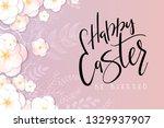vector illustration of easter... | Shutterstock .eps vector #1329937907