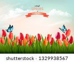 spring nature background with... | Shutterstock .eps vector #1329938567