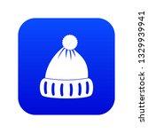 woolen hat icon digital blue... | Shutterstock . vector #1329939941