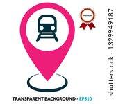 subway icon and map pin. logo...