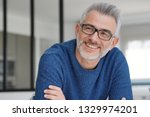 portrait of smiling man with...   Shutterstock . vector #1329974201
