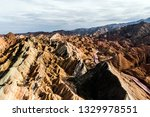 top view of rainbow mountains... | Shutterstock . vector #1329978551