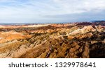 top view of rainbow mountains... | Shutterstock . vector #1329978641