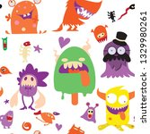 cartoon monsters collection.... | Shutterstock .eps vector #1329980261