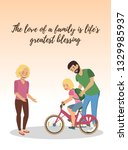 the love of a family is lifes... | Shutterstock .eps vector #1329985937
