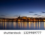 the lights of the city of... | Shutterstock . vector #1329989777