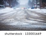 Snow Covered Road  The Marks O...