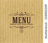 restaurant menu design   Shutterstock .eps vector #133002209